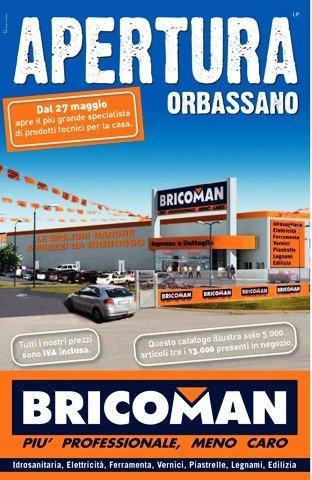 Bricoman apre a orbassano for Bricoman orbassano piastrelle