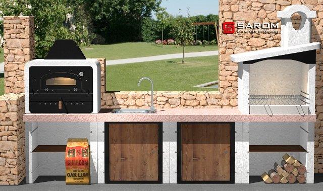 L 39 arte del barbecue di sarom - Cucina da esterno con barbecue ...