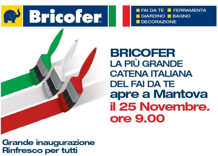Bricofer ha aperto il 25 novembre a mantova ecco il for Volantino bricofer