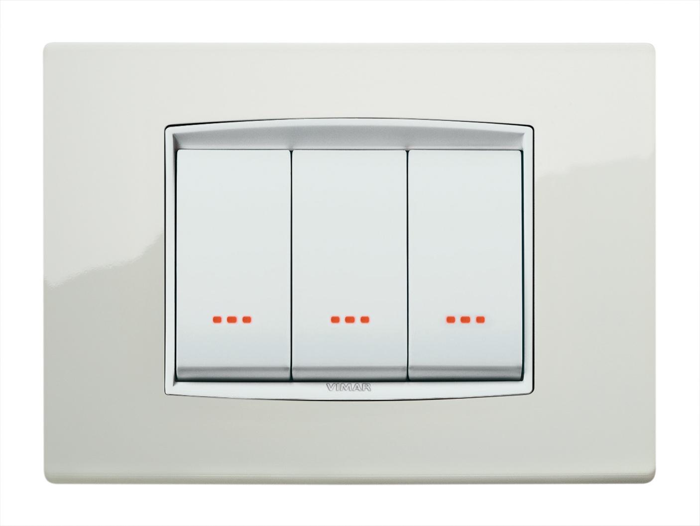 Placche per interruttori vimar for Placche prese elettriche